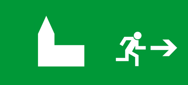 Symbol-Kirchenaustritt