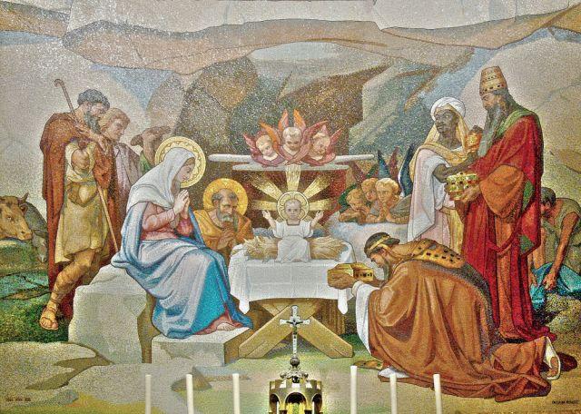 Christi-Geburt-Mosaik-Lourdes